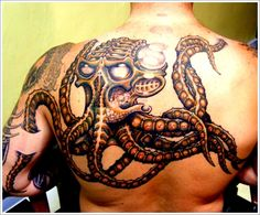 30 Unique Octopus Tattoo Designs: Horror Octopus Tattoo Ideas For Men On Back ~ Cvcaz Tattoo Art Ideas ~ Tattoo Design Inspiration