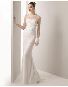 Scintillant & brillant Satin Empire Robes de mariée 2015