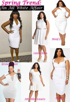1c481b1104 plus size outfits for all white party 50+ best outfits Curvy Women Fashion