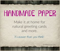 Paper making is easier than you think! Make homemade paper for your holiday and greeting cards using your junk mail, a blender, and a few other simple tools.