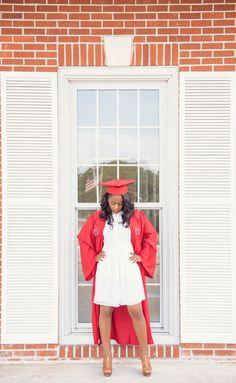 Graduation — Audie J. Girl Graduation Pictures, Graduation Look, Senior Year Pictures, Graduation Picture Poses, Graduation Photoshoot, Senior Pictures Hairstyles, Studio Lighting Setups, White Shawl, White Dress