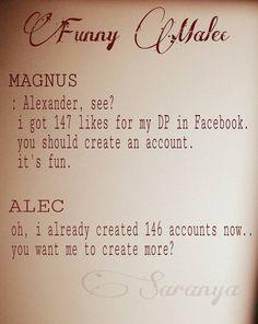 Malec   Magnus and Alec   TMI Shadowhunters   by Saranya Sasi on Facebook