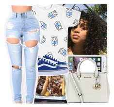 """Ocean blue"" by slayed-fashion ❤ liked on Polyvore featuring Speck, MICHAEL Michael Kors and Vans"