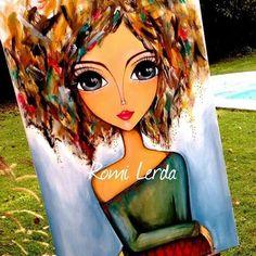 """Presence"" 80 x - romi_lerda_art Afrique Art, Frida Art, Rock Painting Patterns, Painted Rocks Kids, Art Journal Inspiration, Whimsical Art, Pebble Art, Art Pictures, Cute Art"