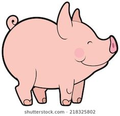Cute cartoon vector little pig Pig Drawing, Drawing For Kids, This Little Piggy, Little Pigs, Cartoon Drawings, Cute Drawings, Pig Character, Pig Art, Art Plastique