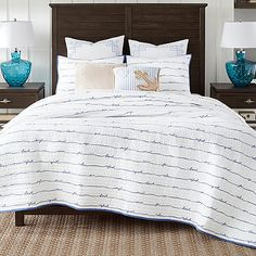Captivating Coastal Living Sand Script Quilt Set