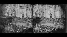 This believed to be a photo of Lincoln's Funeral Procesion.
