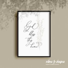 Blessings and good vibes for your home! Catch this beautiful minimalistic poster for your home! #poster #interior #minimalistic