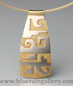 Tammy Garcia, Pendant, 18kt Yellow and White Gold, at Blue Rain Gallery. www.blueraingallery.com