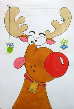 Goofy reindeer envelope to Audrey Envelope Art, Doodles Zentangles, Letter Writing, Mail Art, Cool Cards, Doodle Art, Envelopes, Christmas Diy, Origami