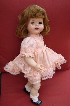 Popular 1950s Dolls   VINTAGE 1950s IDEAL DOLL CO SAUCY WALKER JOINTED LEG DOLL BEAUTIFUL ...