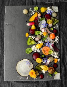 Happy Weekend! We greet you with the first Playground Series post of 2014 with a dish that bursts with colours and textures. Let your eyes feast! This is truly Art on a Plate!