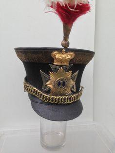 ORIGINAL BRITISH OFFICERS 1st DRAGOON GUARDS BELL TOP SHAKO  1820s