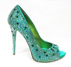 Beautiful - But CAUTION: DON'T OVER DO IT!!! This shoe is all the wow you need.