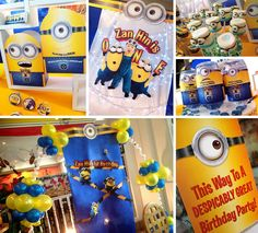 A Minions themed 1st birthday party! Design & setup by ParteeBoo - The Party Designers!