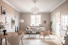 Scandinavian Interior Living Room, Scandi Home, Living Room Interior, Living Room Decor, Scandi Living Room, Color Beige Pared, Beige Wall Colors, Beige Walls, Estilo Interior