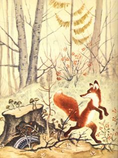 Library things: The fox in Russian book illustrations  Yuri Vasnetsov
