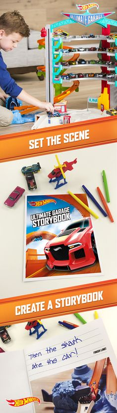 Snap, write, share! Encourage your child's imagination with this DIY photobook for the Hot Wheels Ultimate Garage. Download the PDF template here.