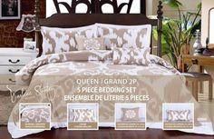 Uzbek 5 Piece Queen Comforter Set