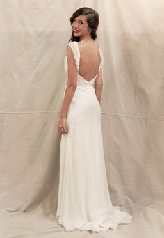 Im Obsessed With Lace And Low Back Wedding Dresses Outdoor Dress Informal