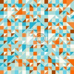Fotobehang Turquoise Groen en Blauw patroon