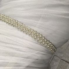 Excited to share this item from my shop: Pearl and silver beaded belt for Brides and Bridesmaids, Flowergirl sash, Narrow pearl belt Bridal Belts, Bridal Sash Belt, Wedding Belts, Wedding Sash, Rhinestone Wedding, Crystal Wedding, Bridesmaid Belt, Brides And Bridesmaids, Bead Weaving