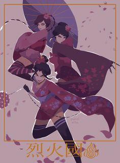 Azula, Mai, Ty Lee from Avatar: the last airbender By Punziella Fan Art Avatar, Team Avatar, Avatar Azula, The Last Avatar, Avatar The Last Airbender Art, Legend Of Aang, Chihiro Cosplay, Punziella, Avatar Characters