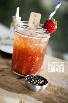Fridays and cocktails: http://www.stylemepretty.com/living/2014/09/26/strawberry-balsamic-smash/ | Photography: Trish Barker - http://www.trishbarkerphotography.com/
