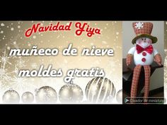 Muñeco De Nieve Patas Largas, Moldes Gratis - YouTube Primitive Doll Patterns, Make It Yourself, Christmas Ornaments, Holiday Decor, Handmade Christmas Decorations, Handmade Christmas, Make A Snowman, Easter Crafts, Christmas Jewelry