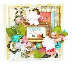 DT work for Scrap Around The World using the May 2014 Mood Board Challenge 13 and the beautiful Garment District collection by Marion Smith Designs! #papercrafting #scrapbooking #marionsmithdesigns #garmentdistrict #primamarketing #manorhousecreations #canvas #scraparoundtheworld #flyingunicornllc