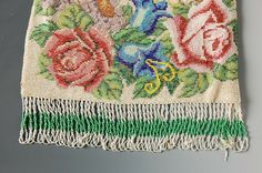 VINTAGE BEADED BAG - by Dirk Soulis Auctions