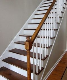 Stairs painted diy (Stairs ideas) Tags: How to Paint Stairs, Stairs painted art, painted stairs ideas, painted stairs ideas staircase makeover Stairs+painted+diy+staircase+makeover Foyer Staircase, Staircase Remodel, Staircase Ideas, White Staircase, Stained Staircase, Wooden Staircase Design, Carpet Staircase, Stair Design, Diy Design