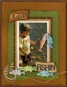 52 Best Fishing scrapbook layouts images | Scrapbooking ...