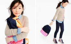 Love the layers and the sparkly  shoes.    Girls' Clothing, Fashion & Apparel : Looks We Love | J.Crew