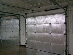 Make your garage energy efficient. Easy install of radiant barrier insulation to garage doors. Design Garage, Door Design, Garage Interior Design, Gym Design, House Design, Garage House, Car Garage, Mechanic Garage, Garage Shop