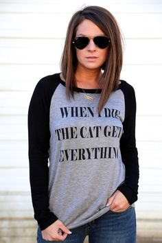 Cat Gets Everything Tunic {Gray + Black}