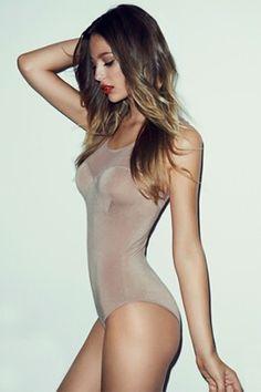 Nude swimsuit bodysuit