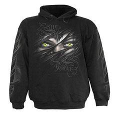 She Wolf, gothic fantasy metal wolven zwarte trui