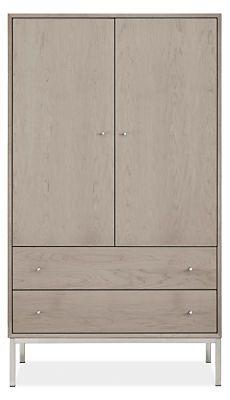 Delano Modern Armoire - Modern Armoires - Modern Bedroom Furniture - Room & Board