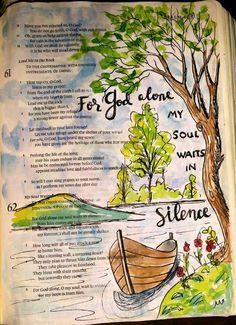 Art Journaling, Bible Study Journal, Nature Journal, Bible Drawing, Bible Doodling, Bible Prayers, Bible Scriptures, Bible Verses About Nature, Scripture Art