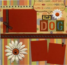 Top Dog  Premade Scrapbook Page by SusansScrapbookShack on Etsy, $15.95