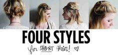 Four short hair styles