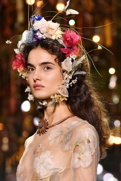 Dior Debuts Couture Flower Crowns