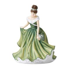 December Mistletoe Flower of the Month Royal Doulton Figurine