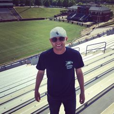Georgia Southern's Cole Swindell on the day of his #Statesboro concert at Paulson Stadium!