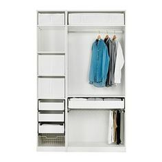 Pax wardrobe with interior organizers house ideas for for Walk in wardrobe fittings