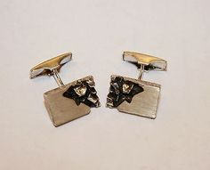 Kalevi Sara, vintage modernist sterling silver #cufflinks. #Finland Sterling Silver Cufflinks, Subscribe Newsletter, Jewels, Finland, Rings, Cuffs, Accessories, Vintage, Men