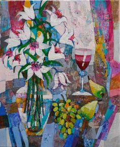 SOLD: 'Still Life With Orchid', 50cm x 60cm