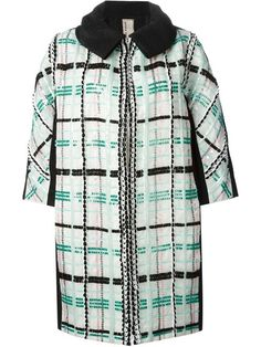 Shop Antonio Marras sequin checked coat.