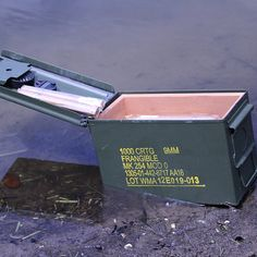 Ammo Can Cigar Humidor - Holds 30-50 Cigars - Airtight - Waterproof   Have this humidor laser-engraved with your call sign or emblem!